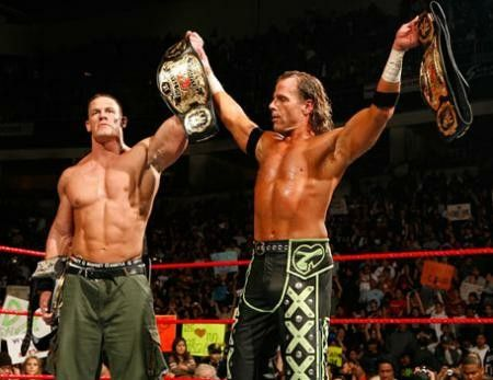 WWE Tag Team Champion John Cena & Shawn Michaels | Wwe champions ...