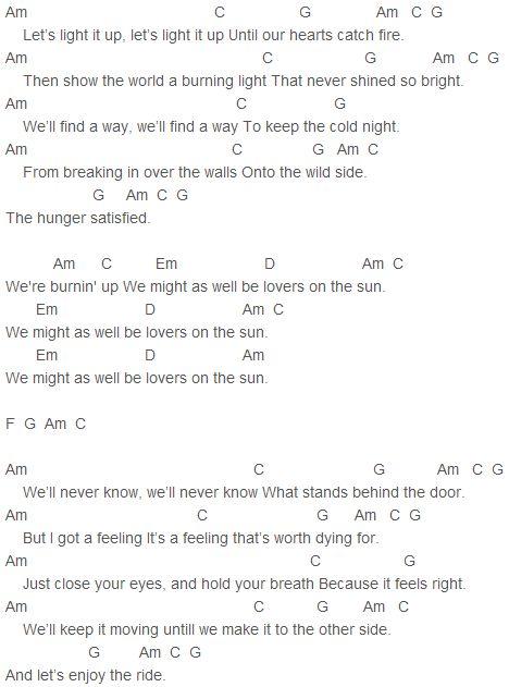 Hard Sun Chords