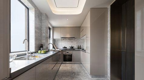 泰安中齐国山墅253㎡自然艺术样板房 戴勇室内设计师事务所 | Vanity, House, Kitchen