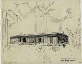 Jean Prouve Maison Coloniale 1948 1949 Etude Pour Une Maison Coloniale Legere 10m X 26m Images D Art