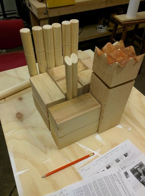 Diy Kubb Set With Carrying Case