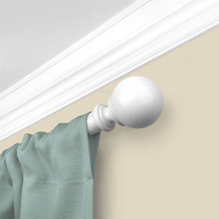 Mainstays 1 Diameter Decorative Curtain Rod With Ball Finial