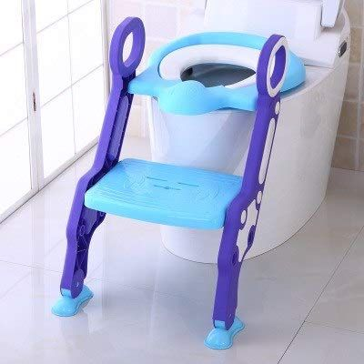 Potty Toilet Trainer Seat with Step Stool Ladder, Adjustable Trainer with Handles /& Soft Cushion for Kids Toddlers 3 in 1