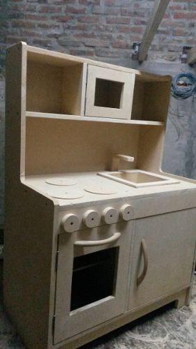 Juego De Cocina De Madera Para Chicos Artesanal 45x30x30cm 5 090 00 Juegos De Cocina Cocina De Juego Para Niños Cocina De Juguete De Madera