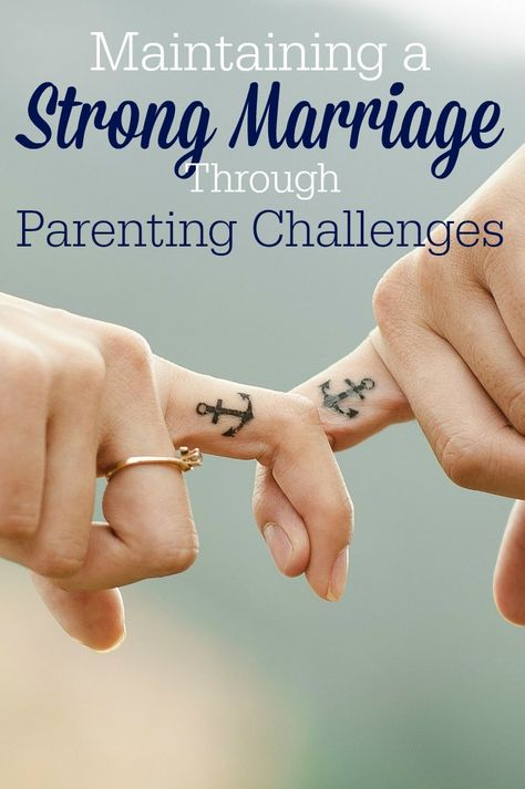 Maintaining a strong marriage through parenting challenges isn't easy ... but it's possible. (Especially…