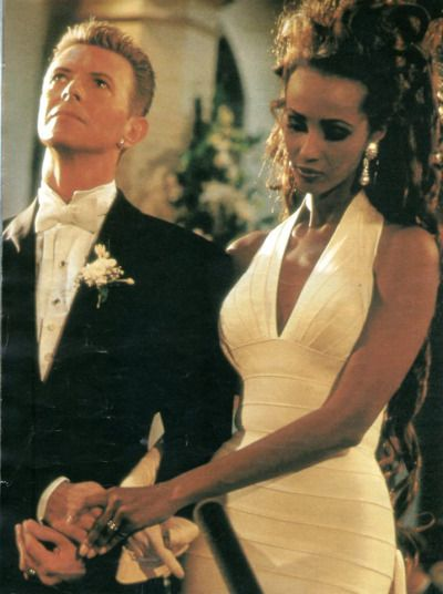 Iman and David Bowie wedding inspiration