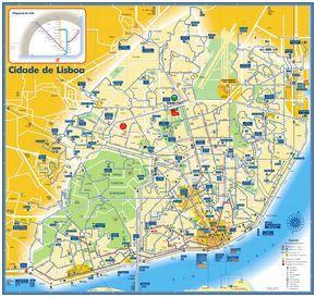 Lisbon Bus Tram And Metro Map Lisbon Portugal Mappery Lisbonne
