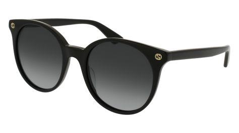 29b43f4e405 Gucci - GG0091S-001 Black Sunglasses   Grey Gradient Lenses ...
