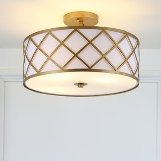 Gold And White Flush Mount Drum Light Led Flush Mount Flush