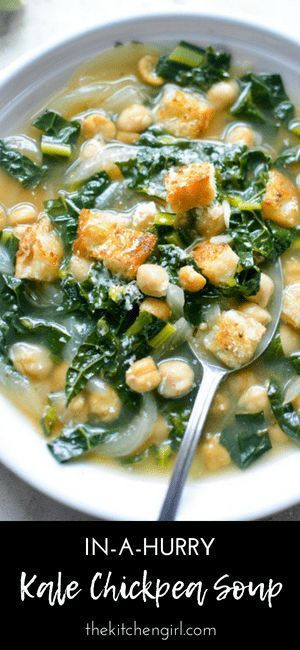 Kale Chickpea Soup In A Hurry