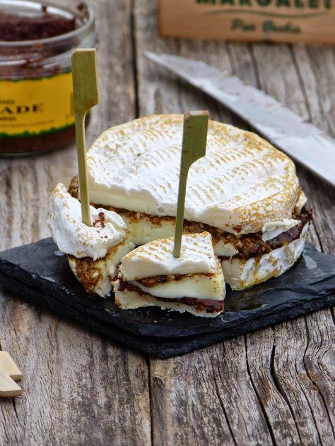 Fromage surprise pour l'apéritif Fromage surprise pour l'apéritif:  1 Margalet 1 cs de tapenade noire (Huilerie Richard) 1 cs de dukkah (recette ici) huile d'olive  Couper le fromage en 3 parties.  Tartiner la première de tapenade, puis recouvrir de fromage. Ajouter un peu d'huile d'olive à la dukkah, puis en tartiner le fromage. Recouvrir de la dernière partie de fromage.  Réserver au frais.  Au moment de servir, couper le fromage en gros cubes.