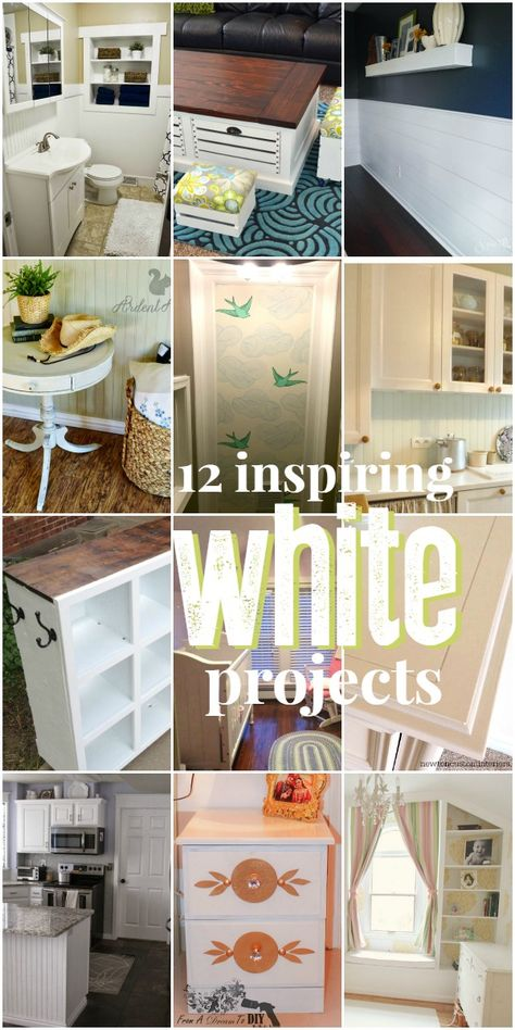 Great ways to use white in your home DIYs @Remodelaholic - LOOK! MY KITCHEN is bottom left!!!