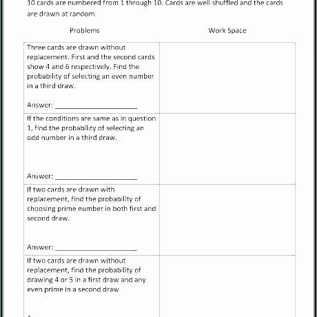 Probability Worksheets High School Pdf Probability And Statistics Worksheets Pdf In 2020 Probability Worksheets Worksheets High School