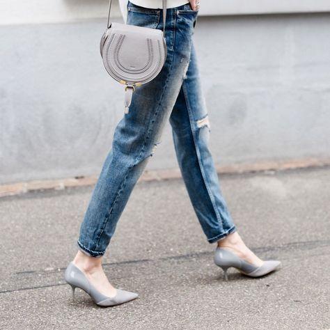 1881267967e Chloe days #Chloe #mini #marcie #crossbody #bag #boyfriendjeans #grey #heels