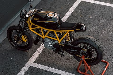STING LIKE A V. NCT Motorcycle's Angry 'Predator' Ducati 750SS