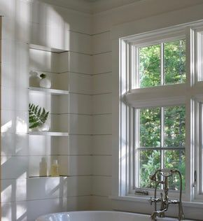Shiplap Bathroom Wall Niche Bath Architectural Detail Design