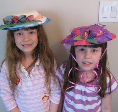 sc 1 st  Pinterest & Spring Crafts | Fancy hats Green paper and Tea parties