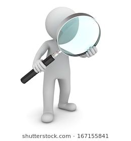 3d Man Standing And Holding Magnifying Glass Isolated Over White Background Magnifying Glass Man Standing Glass