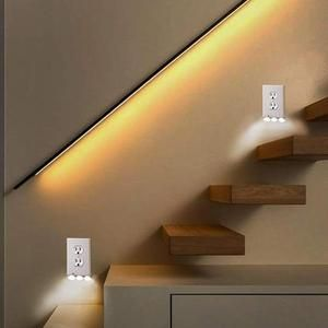 2019 New Outlet Wall Plate With Led Night Lights No Batteries Or W Spiriter Plates On Wall Led Night Light Sensor Night Lights