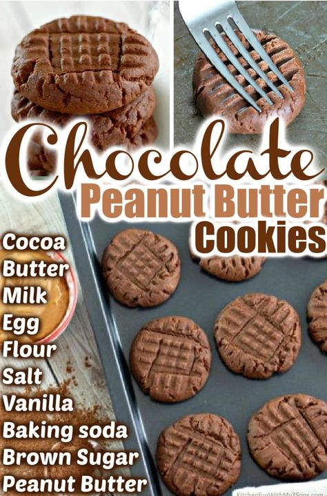 Chocolate Peanut Butter Cookies are the perfect blend of rich chocolate and peanut butter flavors. You will love this delicious twist on the classic peanut butter cookie!