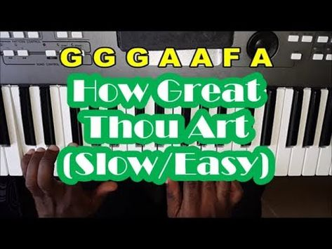 How Great Thou Art Slow Easy Piano Tutorial For Beginners Youtube Easy Piano Piano Tutorial Piano Tutorials