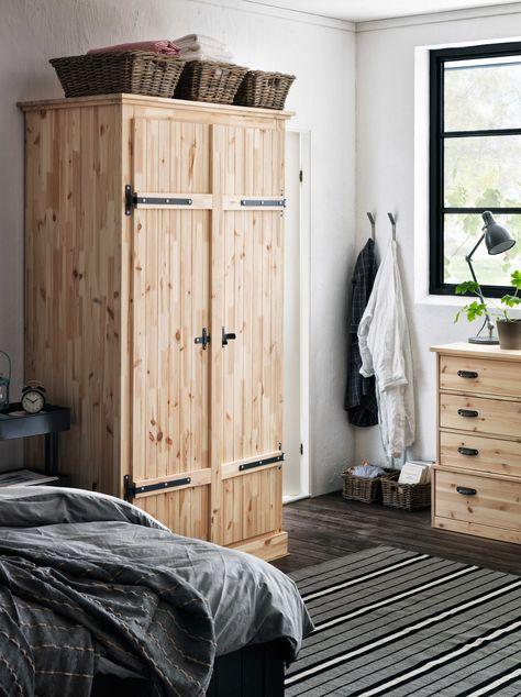 IKEA Österreich, Inspiration, Schlafzimmer, Holz, Schrank FJELL