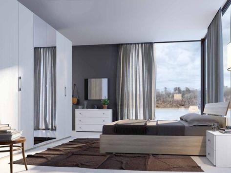 Camera da letto matrimoniale completa in stile moderno cod. 56 ...
