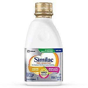 Similac Pro Sensitive Infant Formula With 2 Fl Human Milk Oligosaccharide Hmo For Immune Support Ready To Feed 32 Fl Oz Baby Formula Similac Human Milk