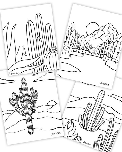 Download coloring pages illustrated by Philip Boelter