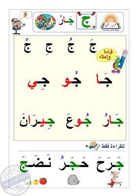 مذكرة تعليم القراءة والكتابة للاطفال بعد مرحلة حفظ الحروف Arabic Alphabet For Kids Learn Arabic Alphabet Arabic Alphabet