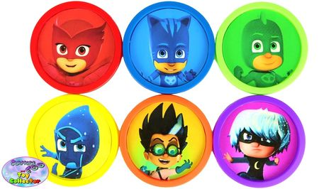 Learn Colors Disney Junior Jr PJ Masks Cat Boy Gekko Owlette Surprise