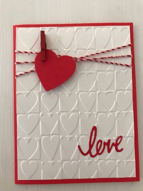 """Valentine's Day Greeting CardThis """"heart on a string"""" Valentine's card will make your special someone feel special. The inside reads """"Happy Valentine's Day""""  Card size is 4.25"""" x 5.5"""". It comes packaged in a resealable cellophane sleeve and a white envelope is included."""