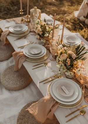 Terra Nomad- Gallery — Aeipathy Studio Photo: Anna Landstedt Photography Nude/ clay/ terracotta colours raw and natural tablescape tablescapes/ party style Terra Nomad- Gallery — Aeipathy Studio Photo: Anna Landstedt Photography Nude/ clay/ terraco Wedding Table Decorations, Wedding Table Settings, Decoration Table, Outdoor Table Settings, Elegant Table Settings, Wedding Tables, Wedding Receptions, Place Settings, Wedding Ceremony