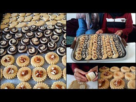 بلاطو من شكيلات حلويات اللوز بريستيج بمناسبة العيد من يد المحترفات فتيحة وامينة Youtube Food And Drink Food Biscuits
