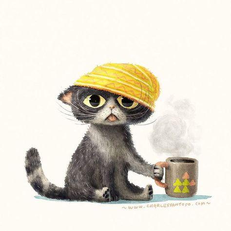 Coffee Cat   Charles Santoso ♥•♥•♥