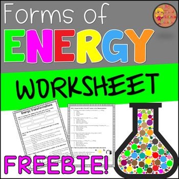 Forms Of Energy Worksheet Learning Science Energy Inquiry Activities