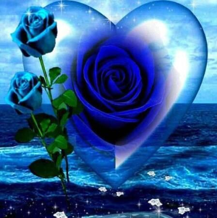 Blue Roses Diamond Painting Kit