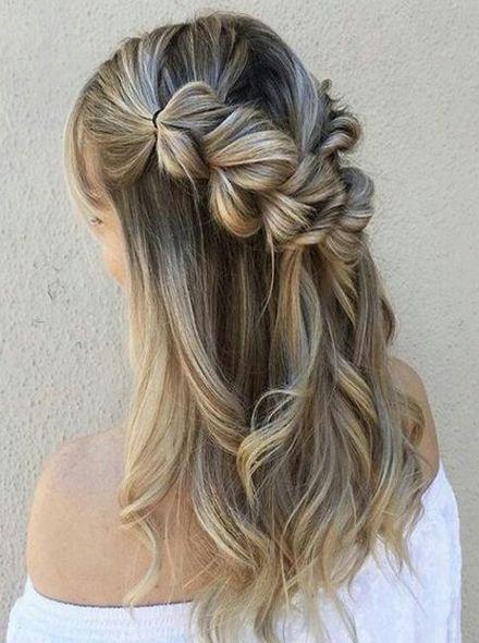 Top 15 Easy Half Updo Hairstyles 2018 Fryzury Włosy