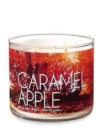 Caramel Apple 3 Wick Candle Bath And Body Works Bath And Body Works Candles Bath And Body Works Perfume