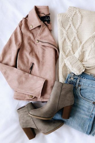 winter outfits Going to Graceland Blush Pink Suede Moto Jacket Tomboy Outfits, Mode Outfits, Trendy Outfits, Fashion Outfits, Fashion Trends, Fashion Flatlay, Fashion Pics, Fashion 2016, Fashion Lookbook
