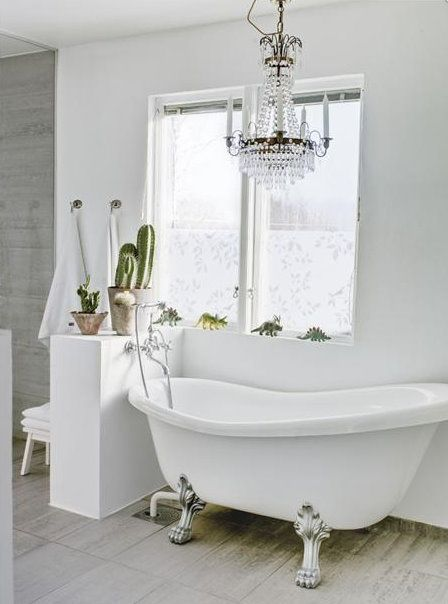 I must have a chandelier in my bathroom!