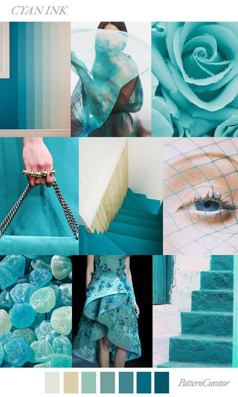 TRENDS // PATTERN CURATOR - CYAN INK . FW 2018 http://spotpopfashion.com/im8o