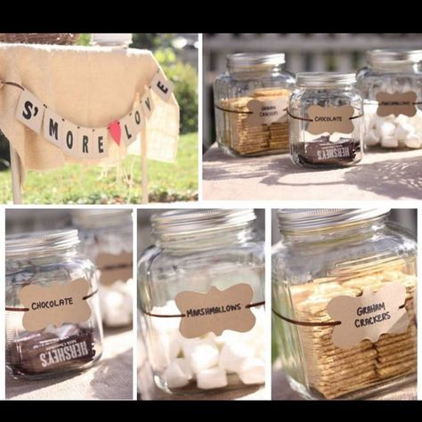Cute b'day party idea!!!S'more bar!