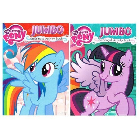 My Little Pony Jumbo Coloring Activity Book Walmart Com Color Activities Book Activities My Little Pony Friends