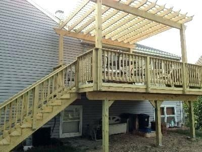 Attach Pergola To Deck Attached Pergola Plans Deck With Attached