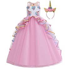 Amazon Com Disfraz De Unicornio Myrisam Para Princesa Cumpleanos Desfile De Fiesta Baile Carn In 2020 Princess Dress Kids Wedding Dresses For Girls Princess Dress