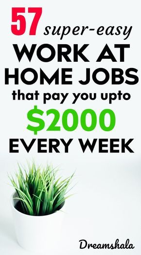 51 Legit Work From Home Companies That Pay Weekly With Images