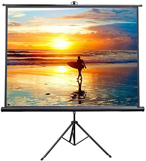 Vivo 100 Portable Indoor Outdoor Projector Screen 100 Inch Diagonal Projection Hd 4 3 Proje Outdoor Projector Outdoor Projector Screens Home Projector Screen