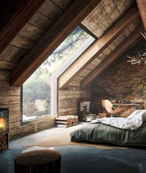 Modern Rustic Master Bedroom Design Ideas Decorating with rustic bedroom furniture can add heat and make a motif in that your space. In addition, it can . Rustic Master Bedroom Design, Rustic Home Design, Farmhouse Master Bedroom, Bedroom Loft, Home Interior Design, Bedroom Decor, Bedroom Ideas, Comfy Bedroom, Bedroom Furniture