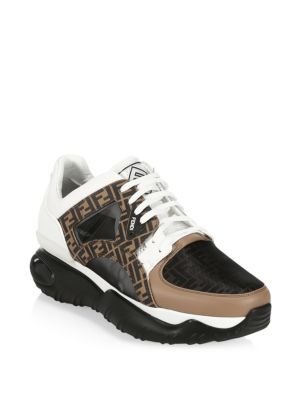 Fendi Exaggerated-sole Leather And Mesh